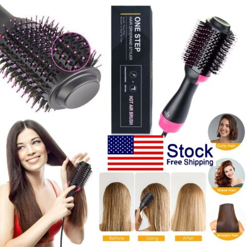 2In1 Hair Dryer and Volumi Brush Iron Comb Curling Straightening Free Ship Hair Care & Styling