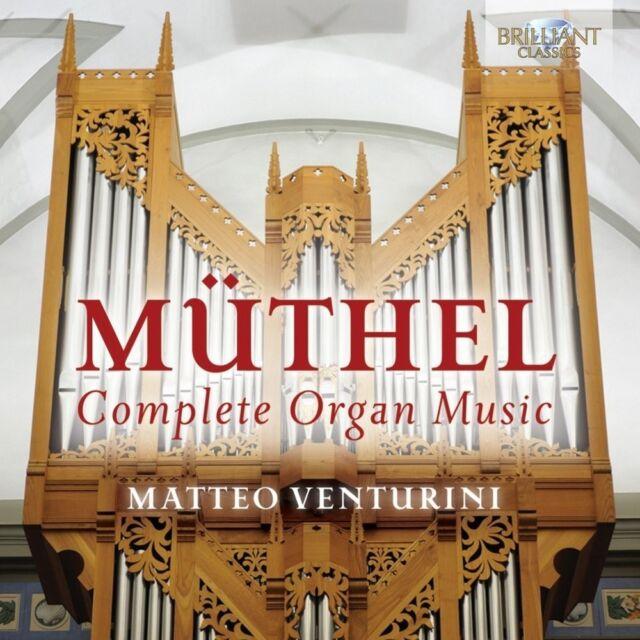 MATTEO VENTURINI - COMPLETE ORGAN MUSIC  CD NEU MÜTHEL,JOHANN GOTTFRIED