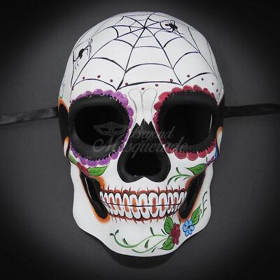 Masquerade Mask New Day of The Dead Giant Spider Web Full Skull Halloween Men - Giant Skull Halloween