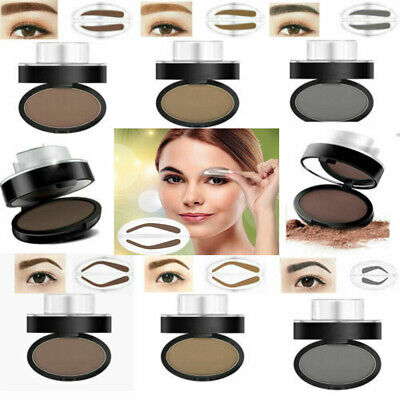 Eyebrow Shadow Stamp Makeup Definition Eye Brow Cosmetic Powder Palette Shape US