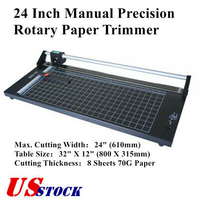 Us Calca 24 Inch Manual Precision Rotary Paper Trimmer Sharp Photo Pape