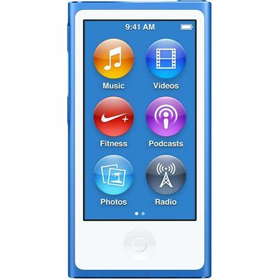 Apple iPod Nano 7th Generation 16GB 16 GB i Pod MP3 Video Player Gen 7 - Blue