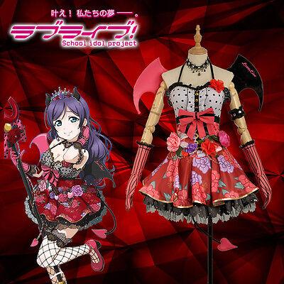 Sif Kostüme (Love Live SIF Tojo Nozomi Cosplay Costume Little Devil Demon Awakening Custom)