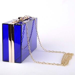 New Pop Women Clear Transparent Acrylic Clutch Evening Bag Shoulder bag Handbag