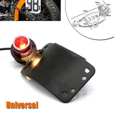 12V Motorcycle Bike LED Metal Brake License Plate Stop Tail Red Indicator Light