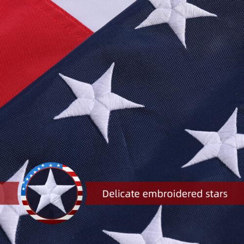 US SELLER 5x8 Ft American Flag US Flag 420D Embroidered Stars Brass Grommets