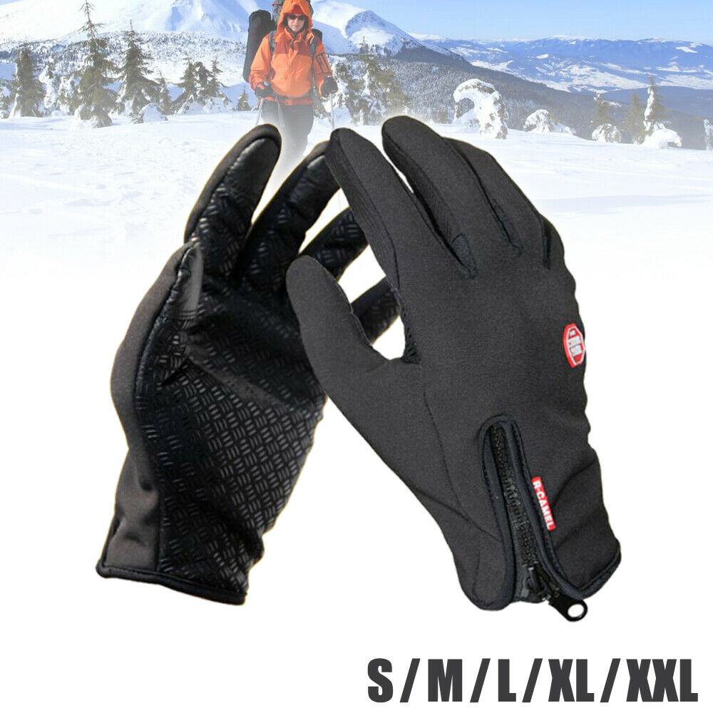 Men Thermal Winter Gloves Windproof Waterproof Touch Screen Warm Mittens Women Clothing, Shoes & Accessories