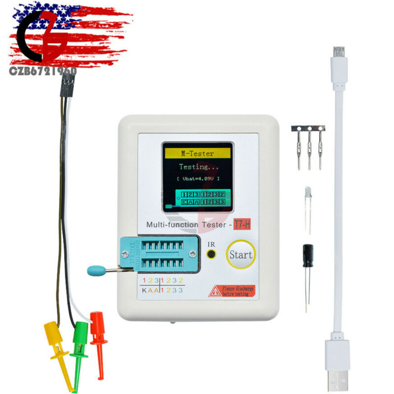 Graphic Multi-function Digital Display Test Transistor Tester TC-T7-H TFT W/USB