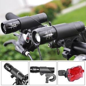 2 x CREE Q5 LED Licht Bike Fahrradlampe Fahrradbeleuchtung Fahrradlicht Schwarz