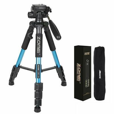 "ZOMEI 55"" Aluminum Alloy Camera Aluminum Adjustable Tripod Stand Panhead Blue"