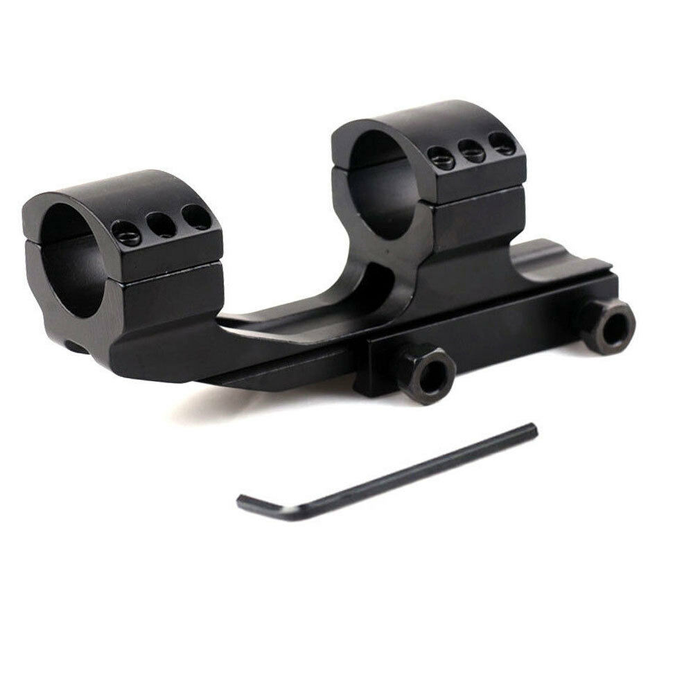 "Tactical Dual Rings Picatiiny Rail PEPR 1"" Cantilever Flat T"