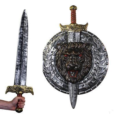 IL SWORD & SHIELD Medieval Gladiator Costume Accessory Halloween Fancy Dress 208](Halloween Gladiator Shield)
