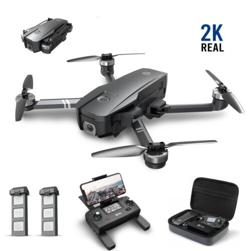 Holy Stone HS720 GPS drone with 2K camera brushless foldable 2 battery case gift