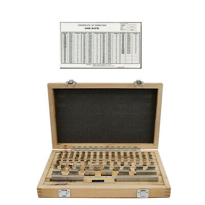 81 Pc Grade 3 Rectangular Gage Block Set W Certificate Of Inspection .050-4