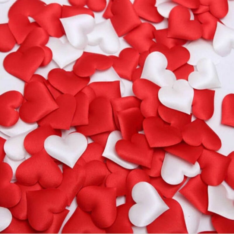 Craft DIY 3D Flower Throwing Rose Petals Wedding Party Padded Fabric Love Heart