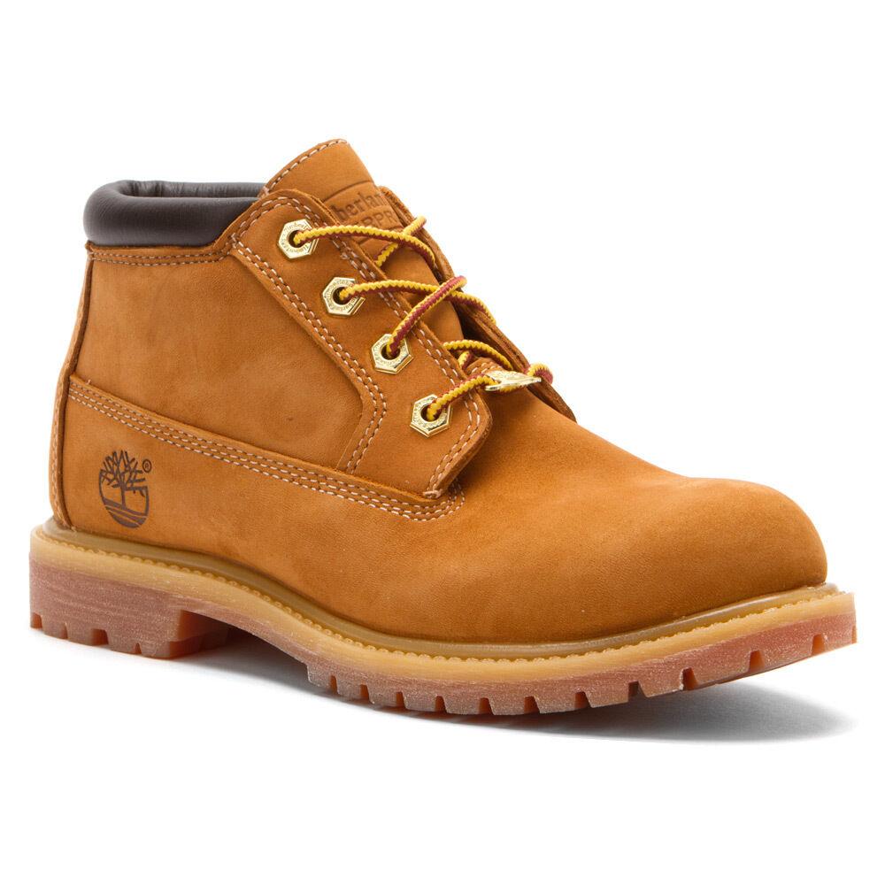 Timberland Women's Nellie Chukka Double Waterproof Boots Wheat Nubuck 23399231