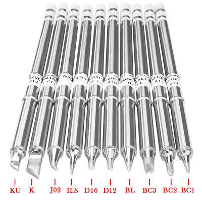 10pcs T12 Handle Series Bc2 Bl J02 Ku Soldering Iron Tips For Hakko Fx951 Fx952