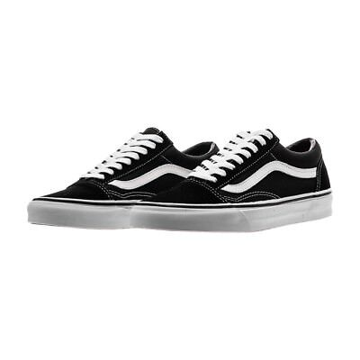 VAN Old School Skate Shoes Black/White Classic Canvas Sneaker UK Size UK3-UK9.5