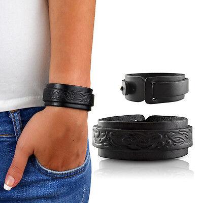MenQ Damen Lederarmband schwarz Tribal echtes Leder Frauen Armband MQ25A69