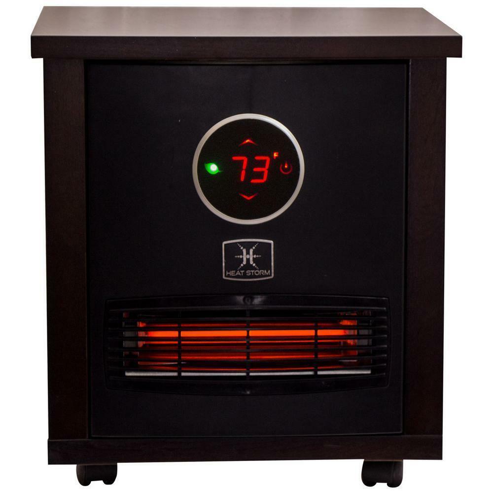 Heat Storm Portable Heater 1500-Watt Wood Radiant Infrared Q