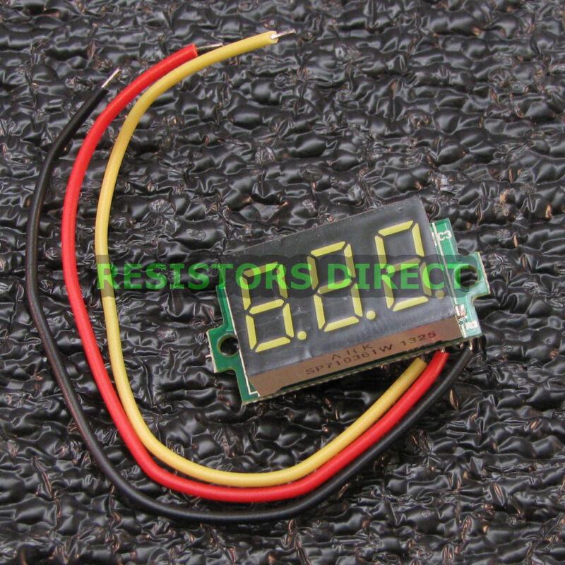 Blue 0-33V DC Mini Digital Voltage Voltmeter 3 Wire LED Display Variable USA R01