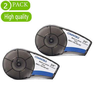 2pcs M21-750-595-wtbk Compatible For Brady Bmp21-plus Bmp21 Lab Label Tape 34