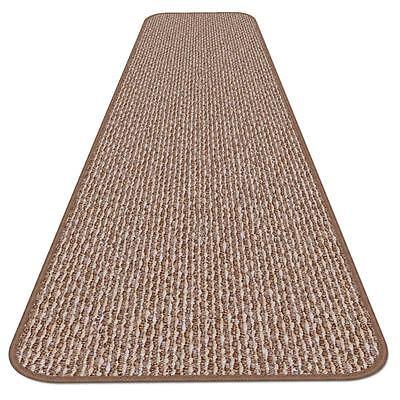 12 ft x 48 in SKID-RESISTANT Carpet Runner PRALINE BROWN hal