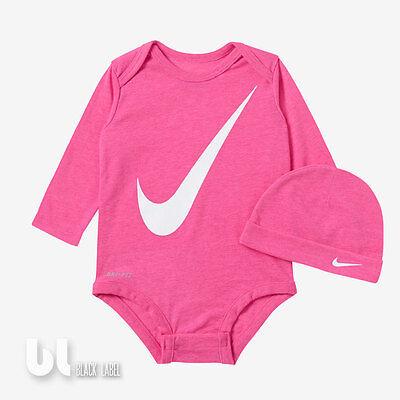 Nike Dri-Fit Neugeborenen Set 2 Teiler Baby Body Mütze Mädchen Geschenkset Girls Nike Baby Langarm