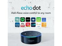 Amazon Echo Dot - Black - Brand New & Sealed. RRP £49 Buy it now only £35.