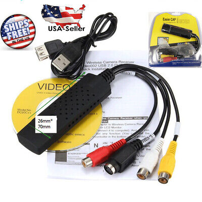 Video To Dvd Converters - Easycap USB 2.0 Audio TV Video VHS to DVD HDD Converter Adapter Capture Card EN