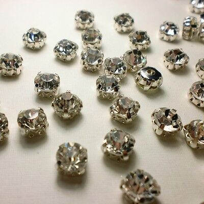 Rhinestone types - clawback, point back and flatback for sew-on, glue-on and hot-fix methods