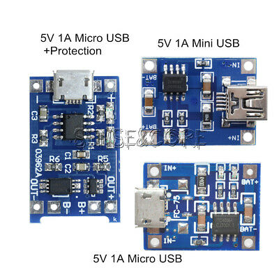 2/5/10PCS 5V 1A Mini/Micro USB 18650 Lithium Battery Charger Board Module TP4056 2,5 A Board