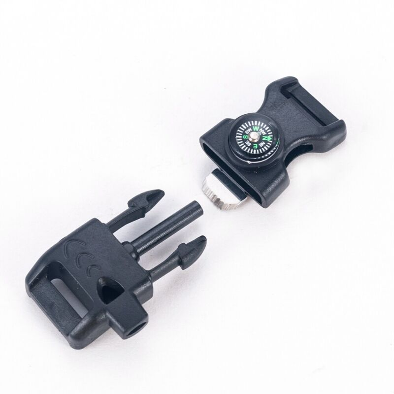 Compass Fire Starter Whistle Buckles Outdoor Survival Paraco