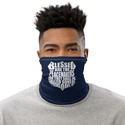 New Police Religious Saying Face Mask Neck Gaiter Blue One Size Free Shipping