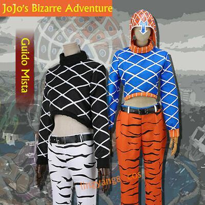 JoJo's Bizarre Adventure Guido Mista Cosplay Costume Halloween Outfits Customize