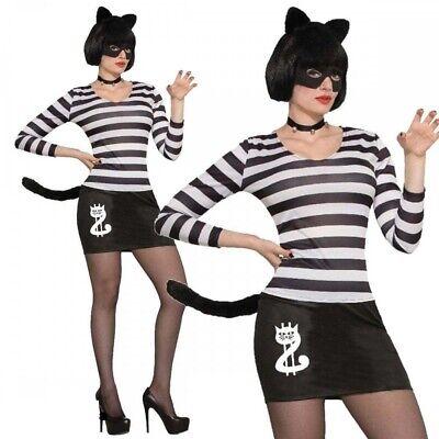 Erwachsene Sexy Katze Einbrecher Kostüm Einheitsgröße Criminal Dieb Halloween