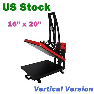 Us Stock 110v 16 X 20 Auto Open Heat Press Machine 1600w Vertical Version