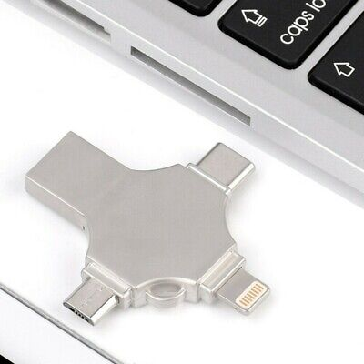 32GB 4 In 1 USB Flash Drive OTG Adapter U Disk For Type-C-Android iPhone/PC
