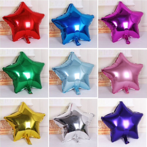 Lot 2//5//10pcs Five-pointed Star Helium Foil Balloon Wedding Birthday Party Decor