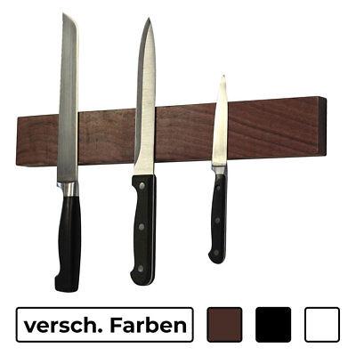 Messer Magnetleiste 40 cm Massivholz schwarz oder weiß Messerhalter Küchenhelfer ()