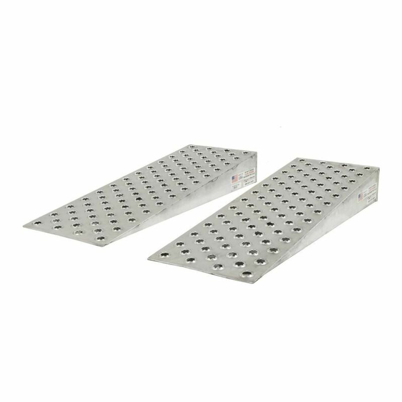 "Aluminum High-Traction Shipping Container Ramp Wedges - 48"" L x 16"" W"
