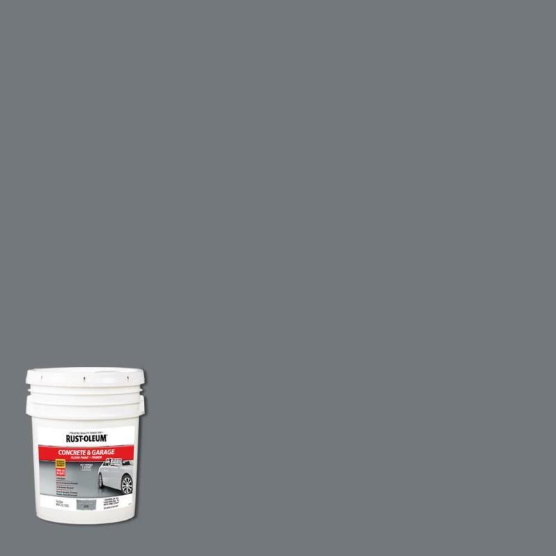 5 gallon Battleship Gray Concrete Floor Paint Basement Garage Carport Heavy Duty