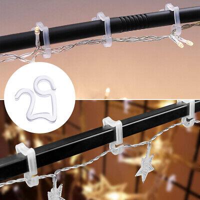 50 x Pack Outdoor Christmas Decoration Mini Gutter Hooks for Christmas Lights US ()