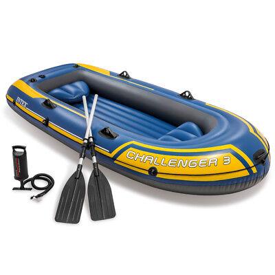 INTEX Challenger 3 Set Schlauchboot + Paddel + Pumpe Angelboot 3 Personen