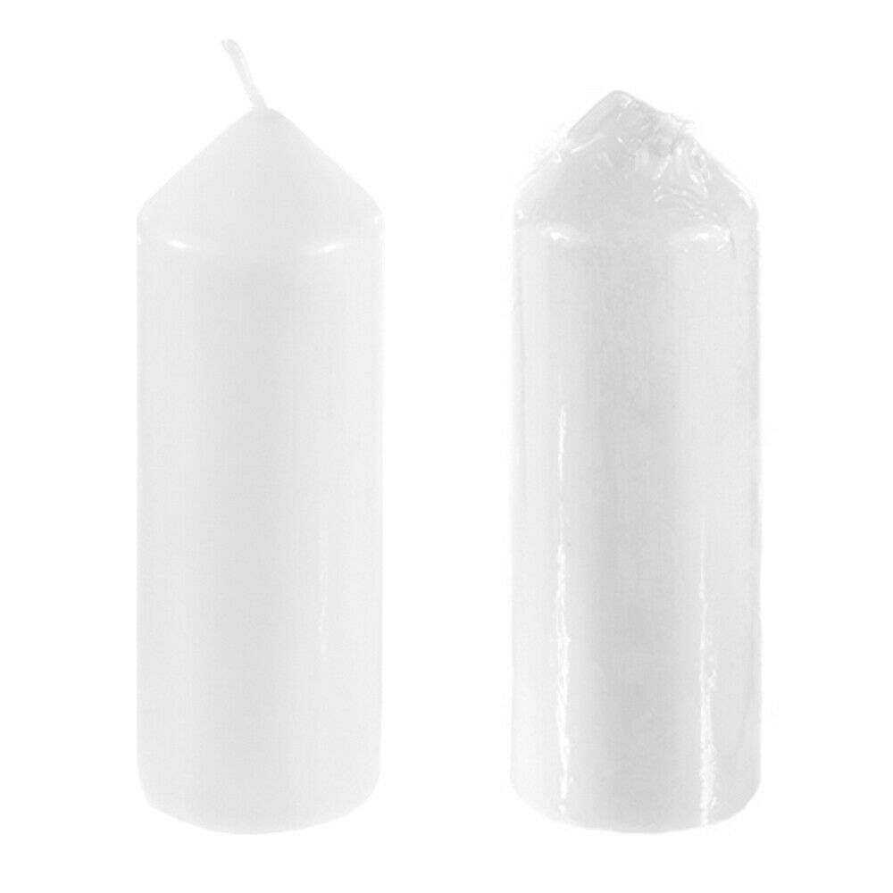 "Mega Candles - Unscented 2"" x 6"" Dome Top Pillar Candle - Wh"