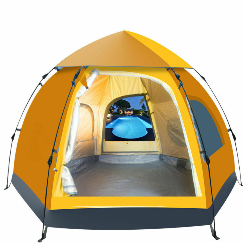 5-6 People Waterproof Automatic Outdoor Instant Pop Up Tent Camping Hiking Tent