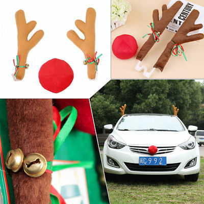 Reindeer Antlers for Car AutoTruck SUV Van Christmas Decoration Accessories Gift