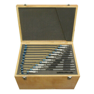 0- 12 Outside Micrometer Set 0.0001 Graduation Carbide Tipped Ratchet Stop