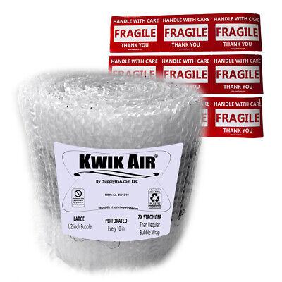 Kwikair Bubble Cushion Wrap Roll 75 X 14 Medium 516 Bubbles Perforated 10