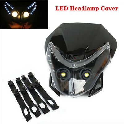 12V 6000K Off-road Motorcycle Front LED Headlamp Cover Fairing Light  Headlight